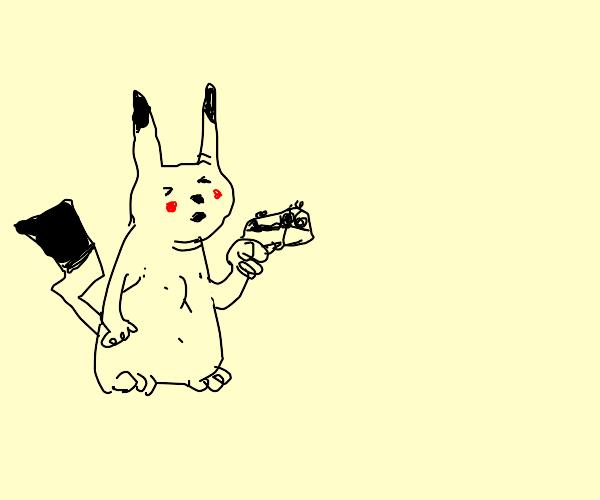 Pikachu have a gun