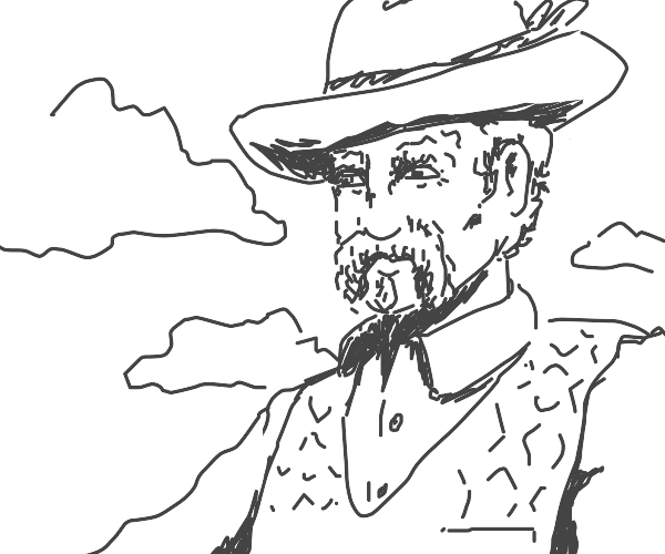 old guy with cowboy hat