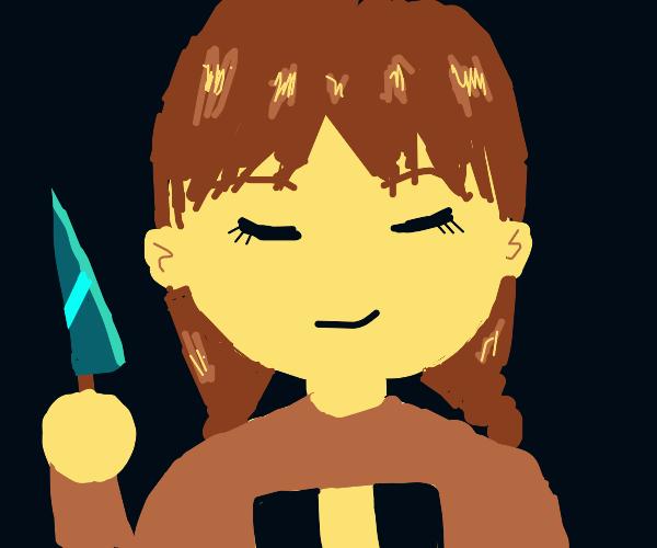she have knife