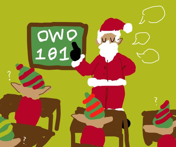 satan teaches 'OWO 101' class