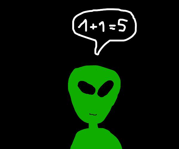 Alien Can't Do Maths