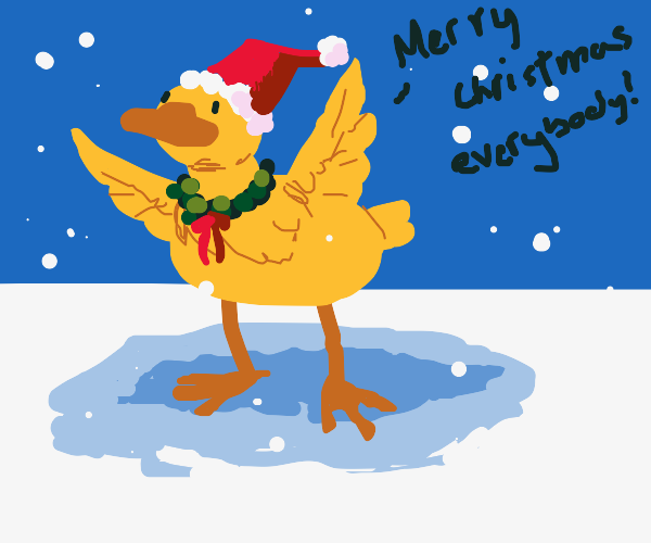 festive duck wishes you a merry duckmas