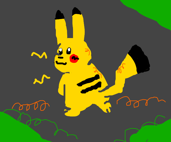 Pikachu's mandela effect with his tail