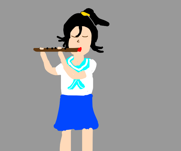 Person playing a flute