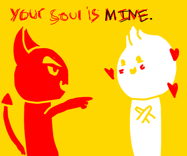 Guy points at you that hes soul belong to him