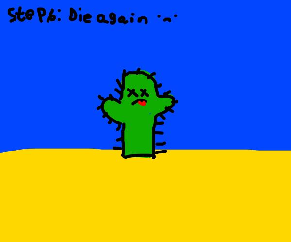 Step 5: reincarnate and become a cactus