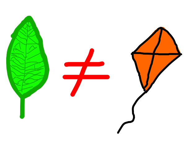 leaves are not kites