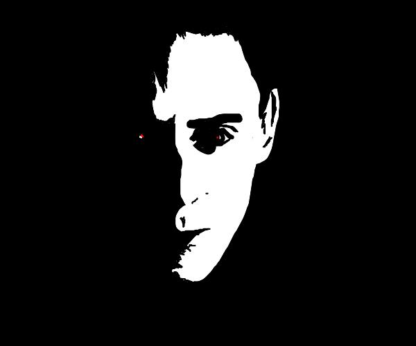 spooky man in the dark