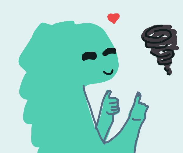 dinosoars love tornadoes