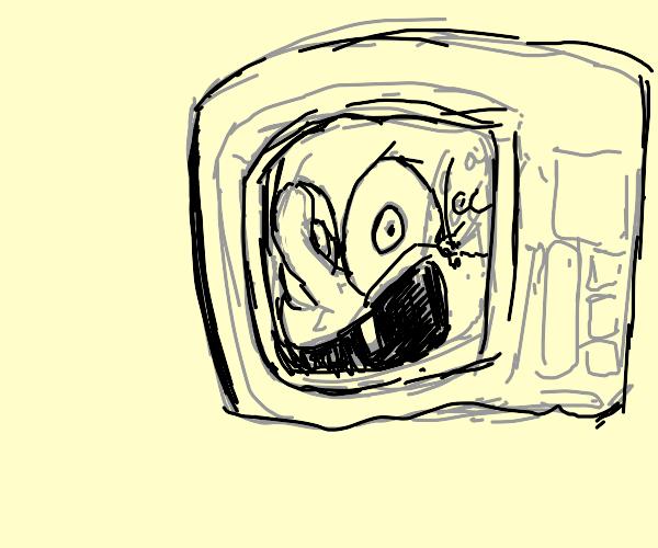 spongebob stuck in microwave