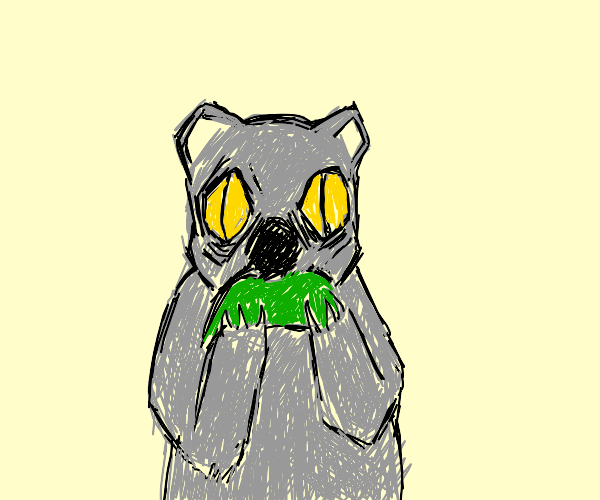 Koala loves eucalyptus taco