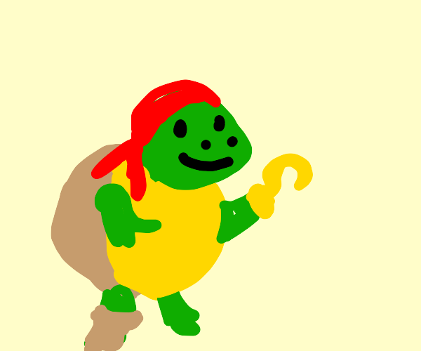 Softshell turtle medium level pirate