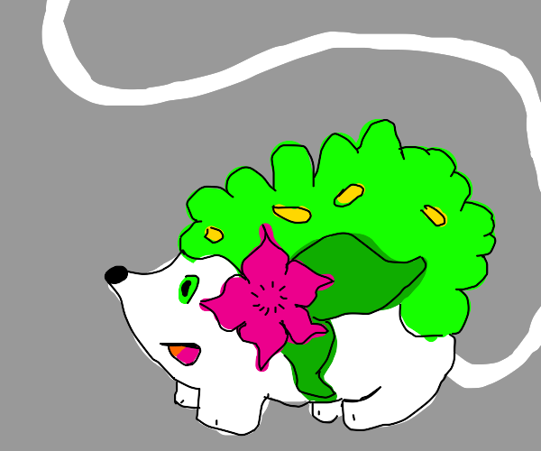 Shaymin with a tail 90 times the body length