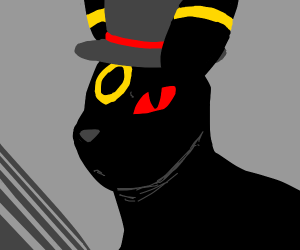 Umbreon with a top hat