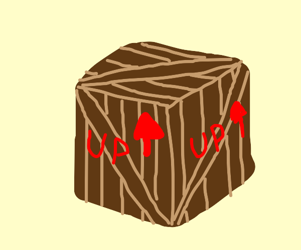 Box with correct side up