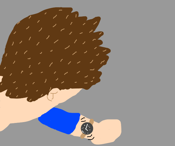 Vibrating wristwatch