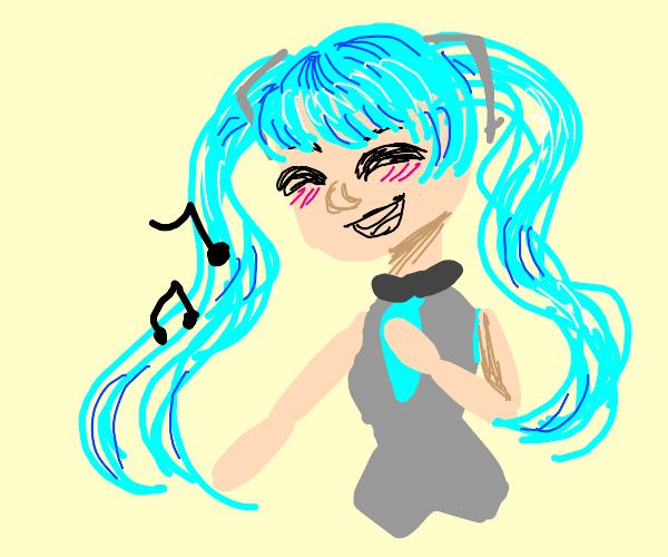 Singing hatsune miku