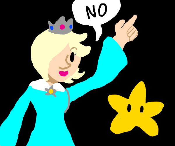 "Rosalina telling a Luma ""N O"""