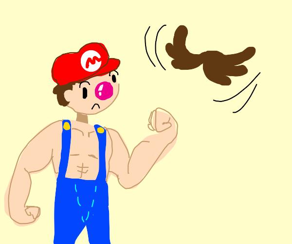 Buff Mario's mustache flies away