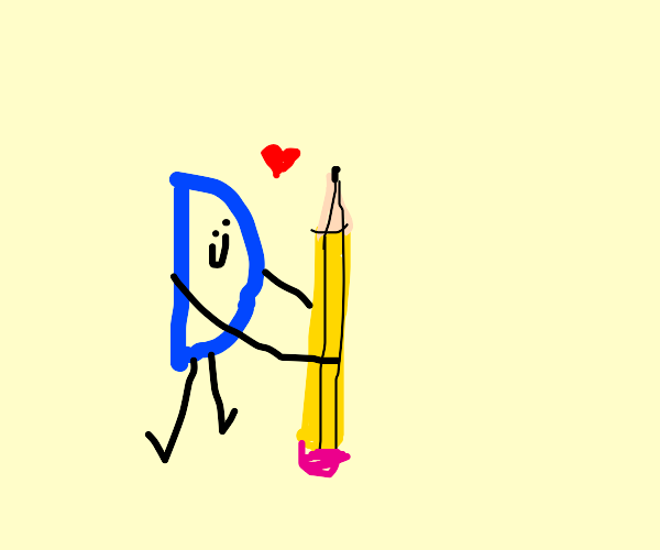 Drawception D loves his pencil