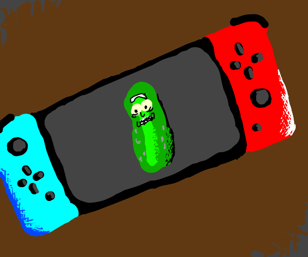 Pickle Rick is on a Nintendo Switch