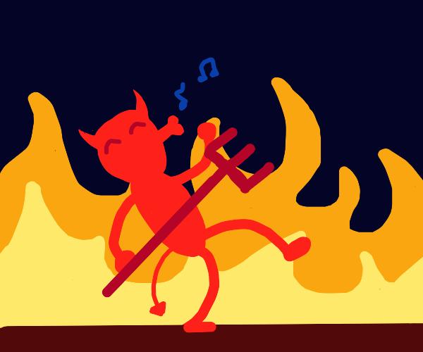 Devil whistling a tune