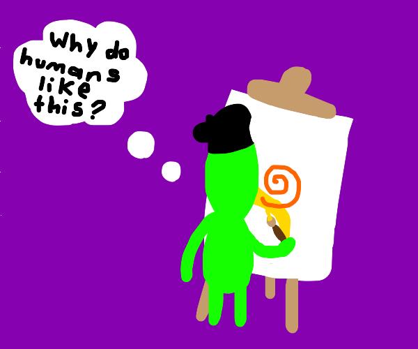 Alien art student
