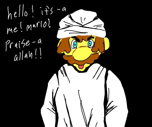Mario converts to Muslim