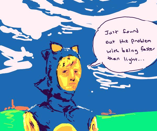 hey weirdo human sonic, why you sad?