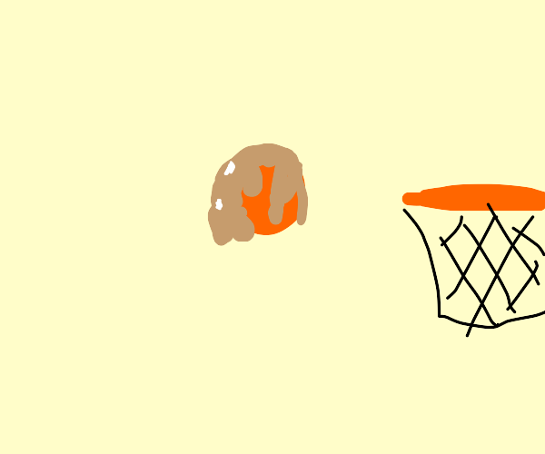 The basket ball is Carmel
