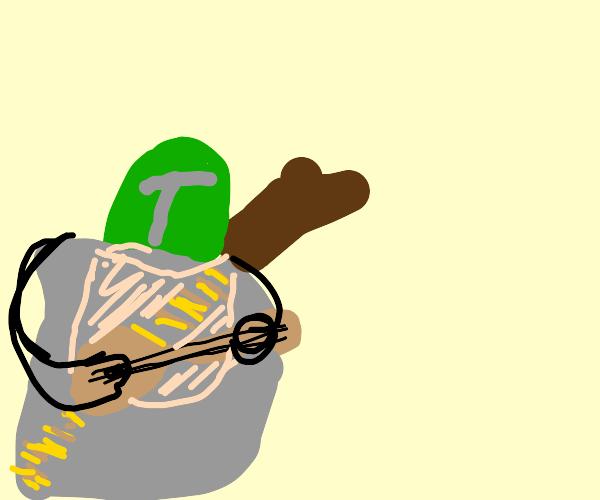 The Mandalorian plays a mandolin