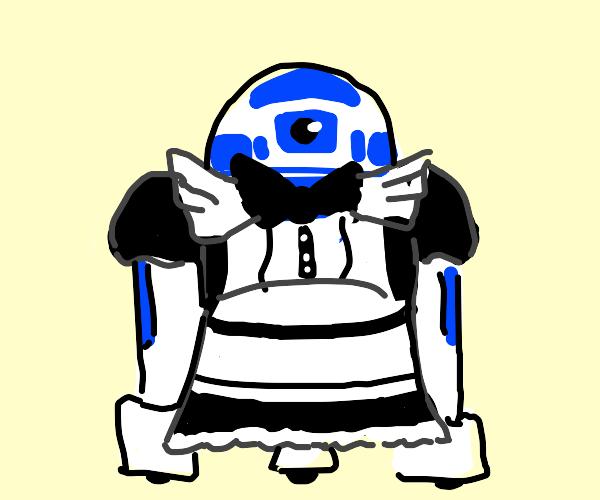 Robot wearing maid costume