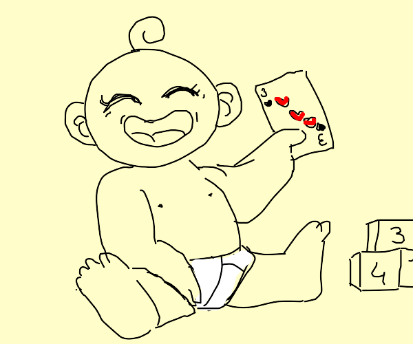 Baby got a card