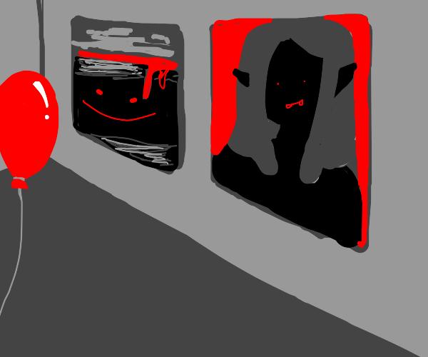 Horror themed art gallery