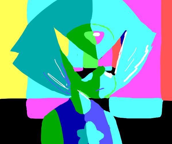 Bright colorful alien dude
