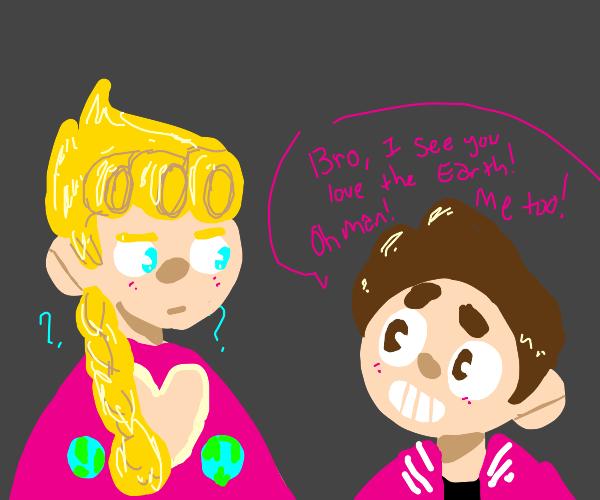 Giorno (jojo) meets Steven Universe