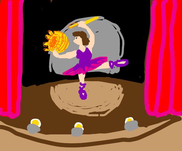 Dancer Basketweaving