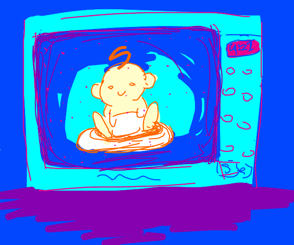 ah yes, a baby in a microwave