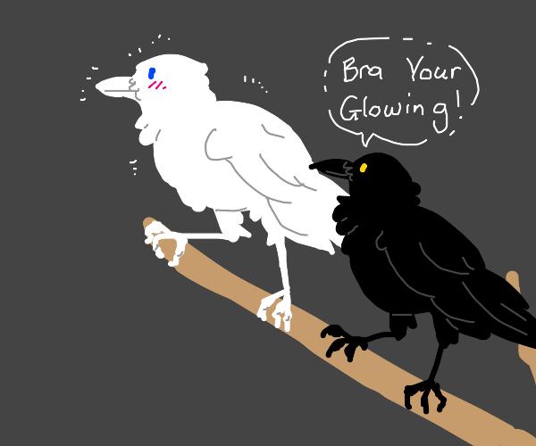 glow in the dark crow
