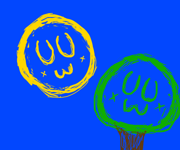 UwU sun and UwU tree
