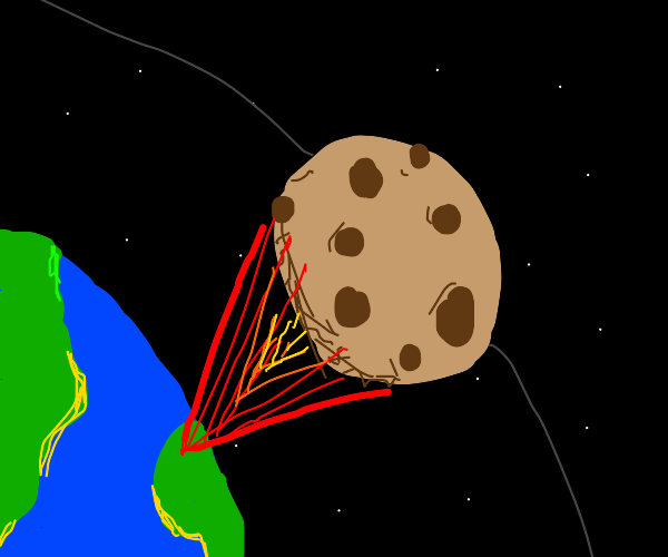 Cookie rocket exits earth