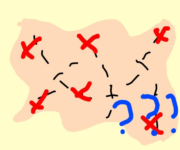 Treasure map but it's Wrong