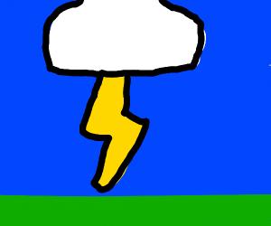 A lot of lightning