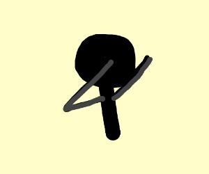 dabbing stickman