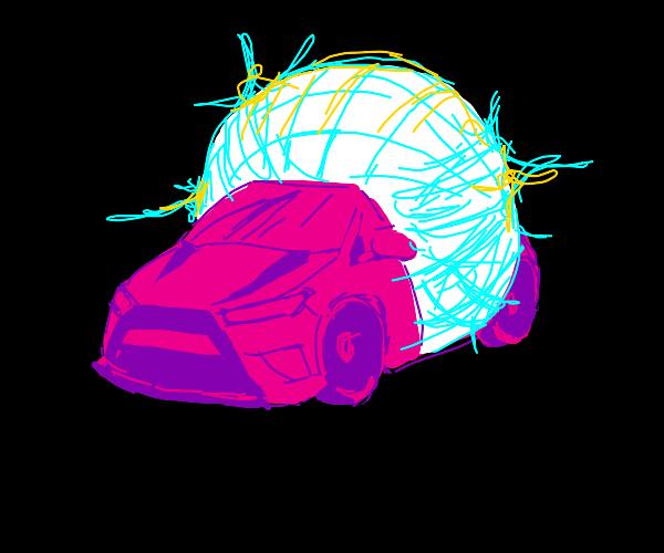 Pink disco car