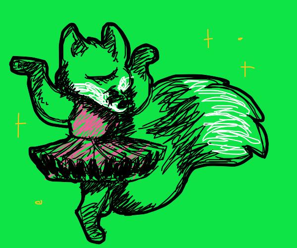 Cyclops ballerina with fox-like features :o