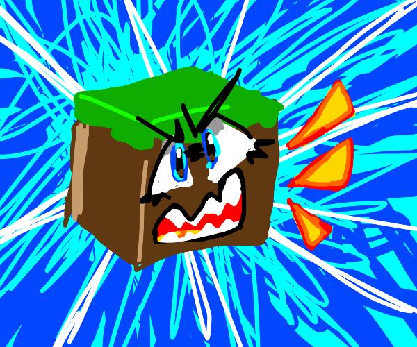 Anime Minecraft grass block