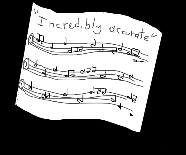 Incredibly accurate classical sheet music