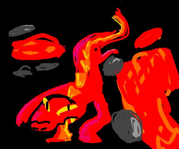 Lava Crocodile