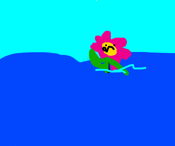 Drowning flower